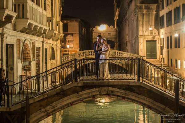 the bride in venice